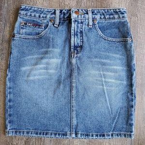 Lei | High Waisted Mini Denim Skirt | 1